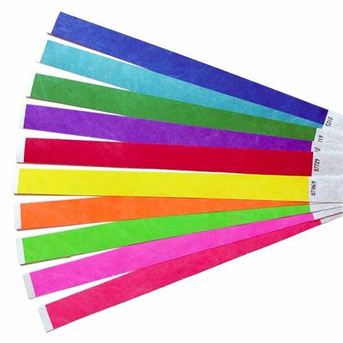 Хотелски гривни, синтетична хартия, различни цветове