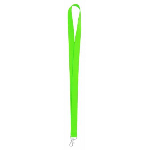 Връзка за бадж, лента за бадж, неоново зелена