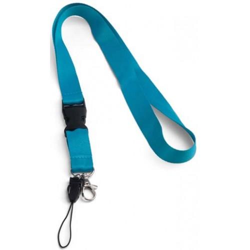 Връзка за бадж, лента за бадж с удължител, азурно синя