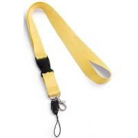 Връзка за бадж, лента за бадж с удължител, жълта