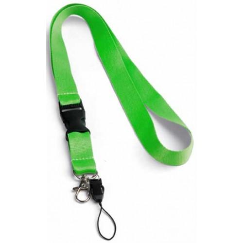 Връзка за бадж, лента за бадж с удължител, неоново зелена
