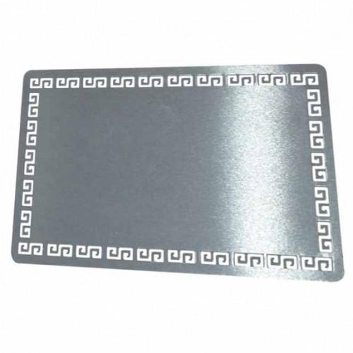 Визитка, метална, лукс, ефект сребро, пълноцветен печат