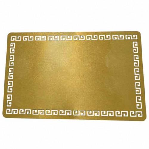 Визитка, метална, лукс, златен ефект, пълноцветен печат