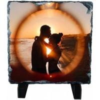 Скална плоча със снимка, квадрат